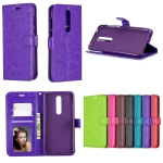 Crazy Horse Texture Horizontal Flip Leather Case with Holder & Card Slots & Wallet & Photo Frame For Nokia 3.1 plus(Purple)