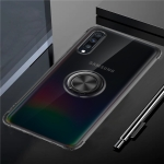 Ultra-thin TPU Protective Case for Galaxy A70, with 360 Degree Rotation Holder(Black)