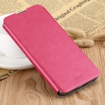 MOFI Rui Series Classical Leather Flip Leather Case With Bracket Embedded Steel Plate All-inclusive for Xiaomi RedMi 7(Red)