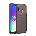 Beetle Series Carbon Fiber Texture Shockproof TPU Case for LG W10(Brown)