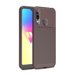Beetle Series Carbon Fiber Texture Shockproof TPU Case for LG W30(Brown)