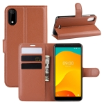 Litchi Texture Horizontal Flip Leather Case for Wiko Sunny 4 Plus, with Wallet & Holder & Card Slots(Brown)