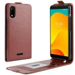 Crazy Horse Vertical Flip Leather Protective Case for Wiko Sunny 4 Plus(Brown)