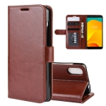 R64 Texture Single Fold Horizontal Flip Leather Case for Wiko Sunny 4 Plus , with Holder & Card Slots & Wallet(Brown)