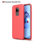 Litchi Texture TPU Shockproof Case for Huawei Nova 5i Pro(Red)