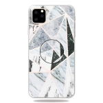 3D Marble Soft Silicone TPU Case Cover Bracket for iPhone XI Max 2019(Polytriangle)