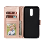Lace Flower Embossing Pattern Horizontal Flip Leather Case for Nokia 3.2 , with Holder & Card Slots & Wallet & Photo Frame & Lanyard(Rose Gold)