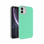 Ultra-thin TPU+PC Brushed Texture Shockproof Protective Case for iPhone XIR 2019, with Holder & Card Slot(Green)