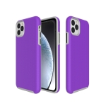 Anti-slip Armor Texture TPU + PC Case for iPhone XI Max 2019(Purple)