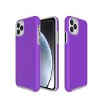 Anti-slip Armor Texture TPU + PC Case for iPhone XI Max 2019(Purple)