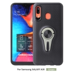 Non-slip Y-shaped TPU Mobile Phone Case with Rotating Car Bracket for Galaxy A20 / A30(Green)