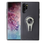 Non-slip Y-shaped TPU Mobile Phone Case with Rotating Car Bracket for Galaxy Note10+(Green)