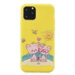 Frosted Pattern TPU Protective Case for iPhone XI 2019(Lovers Bear)