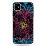 Pattern Printing Embossment TPU Mobile Case For iPhone XI 2019(Dazzling lace)