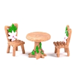 2 Sets Doll House Miniature Furniture Table and Chair Set Children Toys Gifts