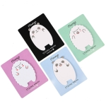 4 PCS Creative Cartoon Animals Cute N Times Memo Pad Sticky Notes, Random Color Delivery