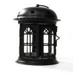 Antique Iron Star House Candlestick Romantic Wedding Candle Holder Lantern Retro Home Decoration Sconce(Black)