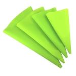 4 PCS Silicone Icing Piping Cream Pastry Bag Nozzle DIY Cake Decorating Tools(EVA Bag Green 4 Mixed)