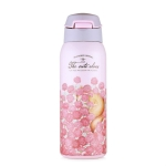 Portable Stainless Steel Sports Mug vVcuum Water Bottle with Straw Pink, Capacity:450ml