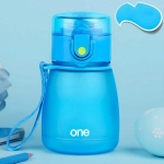 308ML Plastic Baby Feeding Cup With Straw For Kids Leak-Poof Learn Drinking Water Bottle Feeding Bottle Milk Cup(Blue)