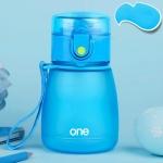 308ML Plastic Baby Feeding Cup With Straw For Kids Leak-Poof Learn Drinking Water Bottle Feeding Bottle Milk Cup(Blue)