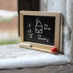 Doll House Miniature Accessories Wooden Blackboard Model Toy