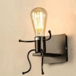 Personality Creative Retro Wrought Iron Villain Wall Lamp without Bulb