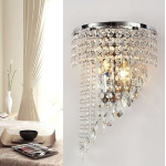 Personality Crystal Pendant Wall Lamp Foyer Bedroom Bedside Decorative Light without Light Source & Switch