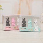 2 PCS Creative Cute Cartoon Rabbit Eraser Art Supplies Children Gifts Random Color Delivery