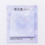 2 PCS Square Beautiful Planet Sticky Sticky Tearable Sticky Oil Painting Notepad( Pluto)