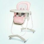 Portable Adjustable Folding Detachable Feeding High Chair(Princess powder)