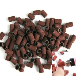 100 PCS Nail Art Electric Grinder Accessories Sandpaper Ring Sand Cloth Ring Grinding Ring, Size:80#