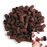 100 PCS Nail Art Electric Grinder Accessories Sandpaper Ring Sand Cloth Ring Grinding Ring, Size:120#