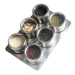 6 in 1 Kitchen Stainless Steel Salt Condiment Set Spice Jars Container Spice Bottles