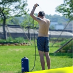 11L Outdoor Camping Hiking PVC Portable Take a Shower Water Tank Water Bag Shower