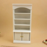 Doll House Modern Wooden Living Room Bookcase Mini Furniture Model Toy