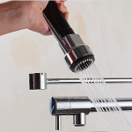 Kitchen Sink Chrome Faucet Nozzle Replacement Head Hand-held ABS sprinkler