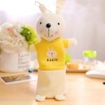 Cute Plush Rabbit Pencil Box Pencilcase Pencil Bag School Supplies Stationery(Yellow)