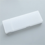 Simple Transparent Pencil Case Frosted Plastic Pencil Pens Storage Box Stationery Office Supplies(Transparent Large)