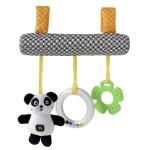 Baby Stroller Cartoon Animal Pendant Cradle Ornament Hanging Rattle(Black And White Panda Bed Hanging)