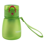 2 PCS Frosted Belly Cup With Straw Sealing Cup(Green)