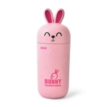 Wheat Stalk Rabbit Cup Resistant To Falling Cartoon Cup(Pink)