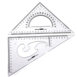 Triangle Set Scale Professional Drawing Tools School Supplies Student Stationery