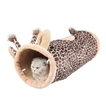 Cat Tunnel Foldable Pet Cat Toy Cat Tent, Color:Giraffe