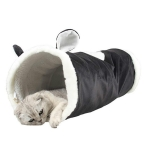 Cat Tunnel Foldable Pet Cat Toy Cat Tent, Color:Black Cat
