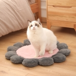 Round Flower Pet Cat Dog Plush Mat Pet Bed, Specification: 60cm(Pink )