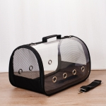 Portable Portable Breathable Cat Dog Out of Space Bag Pet Bag, Colour: Small(Black)