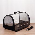 Portable Portable Breathable Cat Dog Out of Space Bag Pet Bag, Colour:  Medium(Black)