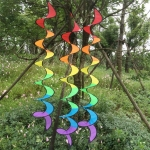 Outdoor Spiral Rainbow Strip Tent Ornament