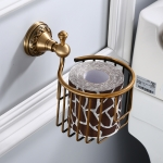 Kitchen Bathroom Dining Room Wall Mounted Brass Toilet Paper Holder